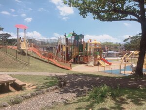 The older kid's play area at Treehouse Adventure Playground