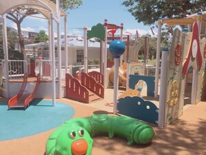 The toddler play area at Treehouse Adventure Playground