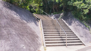 Stairway leading to the trail that takes you to Todoroki Trench