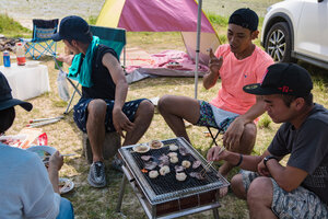 BBQ on Kitanashiro Beach