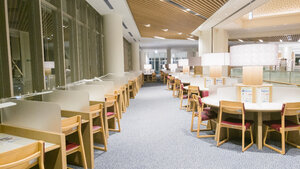 Okinawa Prefectural Library tables and desks