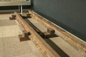Pre-war era railroad track unearthed in 2010