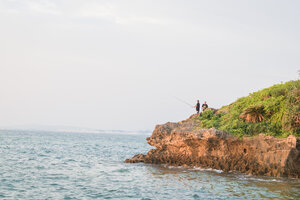 Locals fishing from Turtle Rock