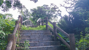 Stairway and arch bridge to Tomori Lion
