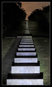 Stairway to Heaven illuminated at night
