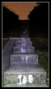 Oddly numbered stairs on the Stairway to Heaven