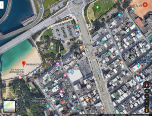 Naminoue Beach satellite view