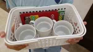 Basket of cups, one for each person
