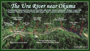 A layout of all the things to do at Ura River