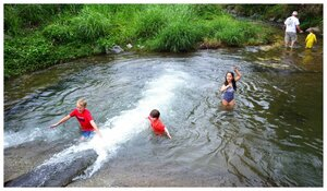 Kids having fun at Ura River