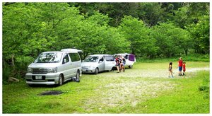 Takazato River / Takazato Dam parking area -- good for parking or camping out