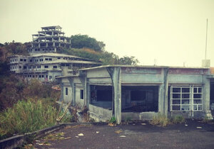 A view of the Okinawa haunted hotel, Nakagusuku Kogen Hotel