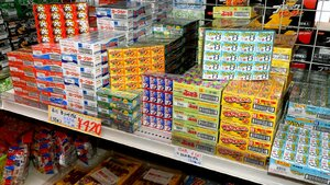 An assortment of gum flavors in 60-count boxes found around Okinawa