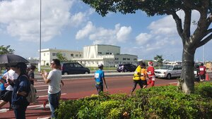 Santa running the 35th Naha Marathon