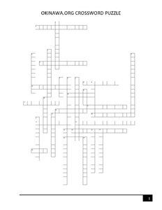 Printable crossword puzzle with an Okinawa theme to celebrate Crossword Puzzle day!