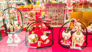 Inexpensive hina dolls for Japanese Girls' Day (March 3rd)