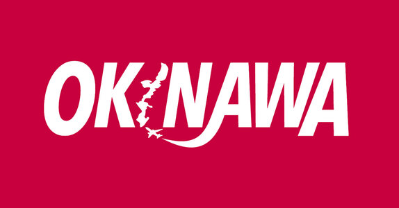 Okinawa.Org logo - Colors inspired by the flag of Okinawa
