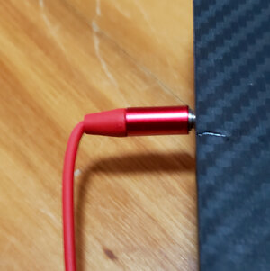 Bent wire that ruined another pair of headphones...