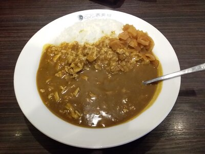 Plain curry at CoCo's