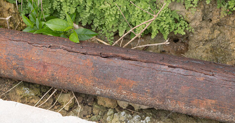 Rusted Out Pipe