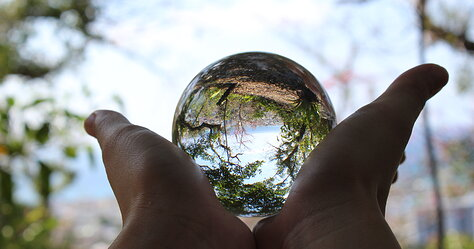 Nago Castle Park Crystal ball view